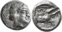 Ancient Coins - A silver quarter-shekel from Gaza, 5th-4th centuries B.C.E.