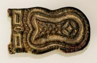 Ancient Coins - A bronze buckle plate with stylized fish design, Eastern Mediterranean ca. 5th-7th cent C.E.
