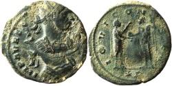 Ancient Coins - A Billon Antoninianus of Aurelian (270-284/5 C.E.) – double struck