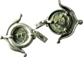 Ancient Coins - A silver pendant with original bronze prutah of Herod the Great, mint of Jerusalem – perfect coin!