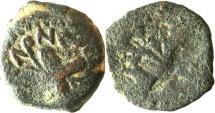 Ancient Coins - A bronze prutah of Antonius Felix, procurator of Judea under Claudius – brockage