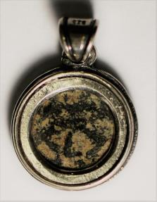 Ancient Coins - A silver pendant with original