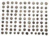 Ancient Coins - INDIA, RAJPUTS: Unattributed horseman & bull jitals. Lot of 100.