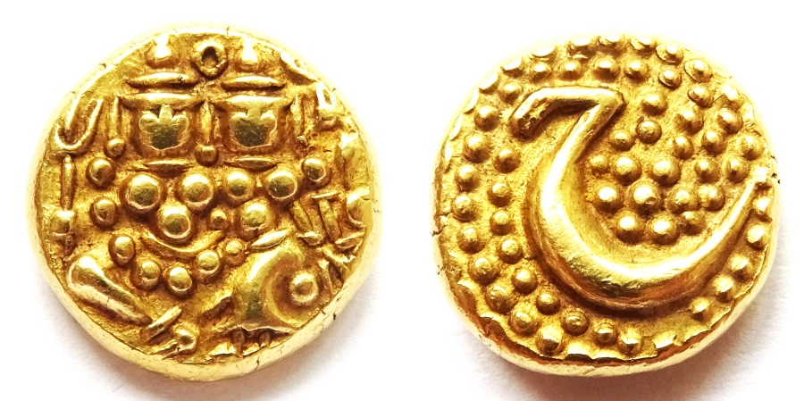 Ancient Coins - INDIA, MYSORE: Haidar Ali gold pagoda. Scarce and SUPERB.