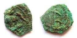Ancient Coins - INDIA, GUPTAS: Kumaragupta copper coin. Smallest denomination. RRR and CHOICE.