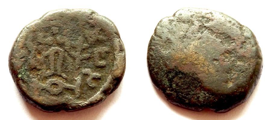 Ancient Coins - INDIA, MATHURA SATRAPS: Hagamasa copper coin with Lakshmi. Very Rare and CHOICE.