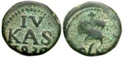 World Coins - INDIA, DANISH: Frederik VI copper 4 cash. Scarce.