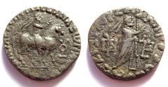 Ancient Coins - INDIA, INDO-PARTHIANS: Abdagases tetradrachm. Senior 228.10T.