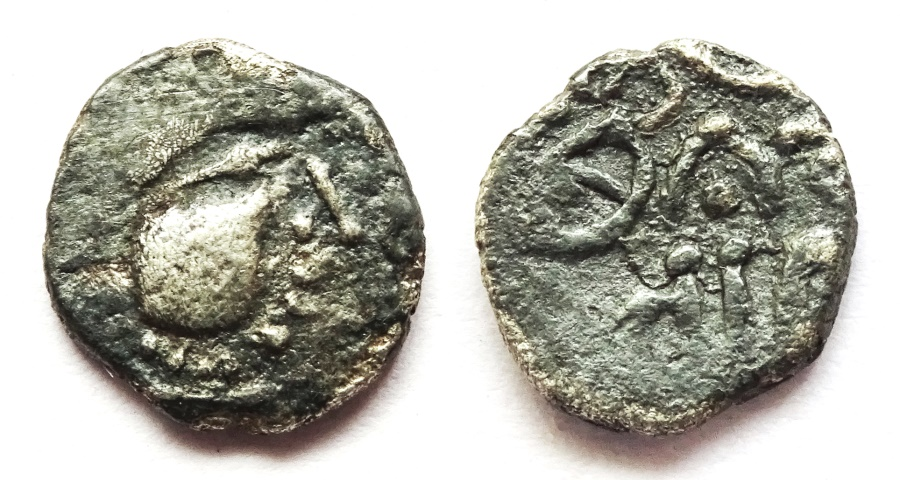 Ancient Coins - INDIA, RASHTRAKUTA: Gunatunga silver dramma. Very Rare.
