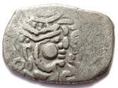 Ancient Coins - INDIA, RAJASTHAN: Chahamana drachm with Sri Ha. CHOICE.