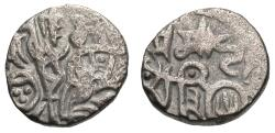Ancient Coins - INDIA, CHAUHANS OF AJMER: Somesvara Deva jital. Number 3 on bull. Rare.