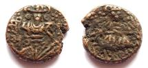 Ancient Coins - INDIA, KASHMIR: Jayasimha Sampath AE stater. UNLISTED and Rare.
