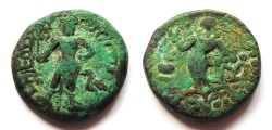 Ancient Coins - INDIA, YAUDHEYA: Copper coin with Karttikeya. CHOICE.