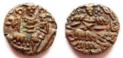 Ancient Coins - INDIA, KASHMIR: Sangrama Deva AE stater. CHOICE.