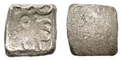 Ancient Coins - INDIA, GANDHARA: Punchmarked silver ¼ shatamana. Rare.