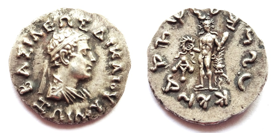 Ancient Coins - INDIA, INDO-GREEK: Zoilos I silver drachm. Extremely Rare and SUPERB.