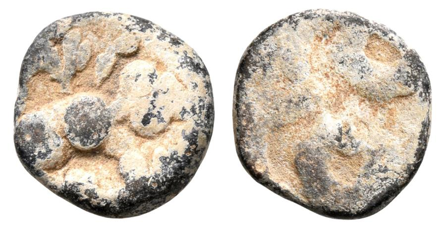 Ancient Coins - INDIA, IKSHVAKU: Madhuriputra Sri Vira lead coin. Very Rare.