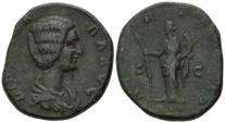 Ancient Coins - Didia Clara, AE Sestertius (193 AD)