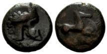 Ancient Coins - Italia, Entella, AE 17, Overstrike, F+