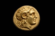 Ancient Coins - Ancient Greek Gold Alexander Stater Coin of King Lysimachos - 297 BC