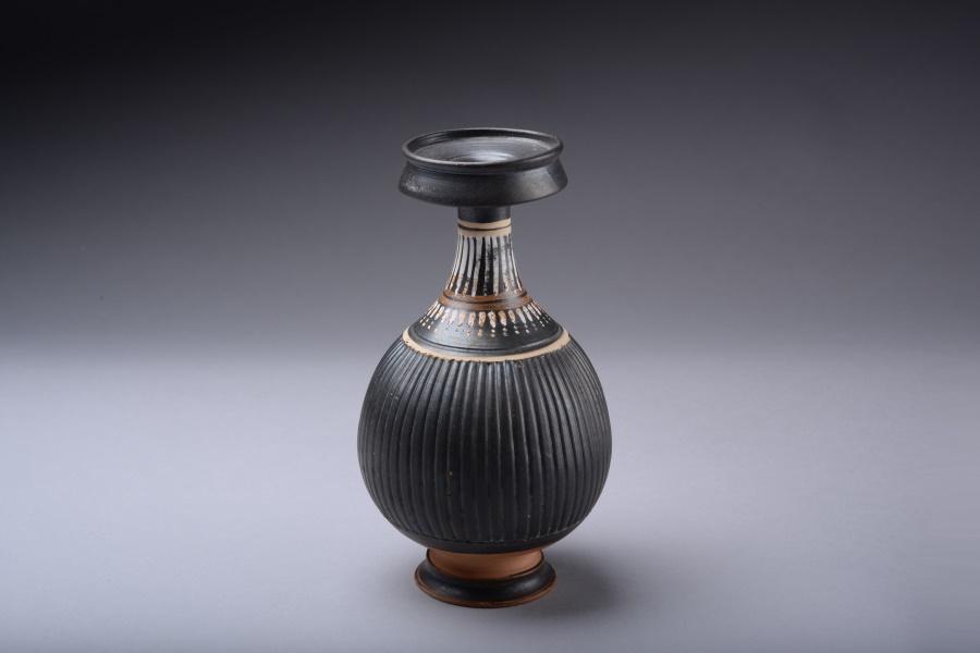 Ancient Coins - Ancient Greek Apulian Gnathian Ware Pottery Bottle - 300 BC