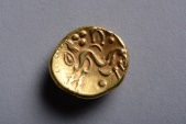 Published & Recorded Ancient Celtic Gold Gallic War Ambiani Stater Coin - 58 BC