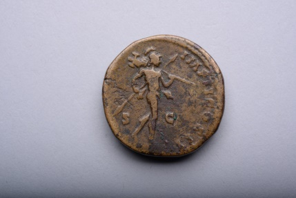 Ancient Coins - Fine Style Ancient Roman Sestertius Coin of Emperor Lucius Verus - 163 AD