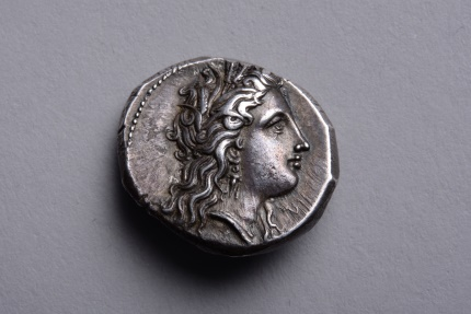 Ancient Coins - Ancient Greek Silver Stater Coin from Metapontum - 330 BC Ex Jameson & Evans