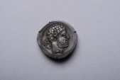 Ancient Coins - Ancient Celtic Iberian Bolscan Silver Denarius Coin - 150 BC