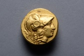 Ancient Greek Gold Alexander Stater Coin of King Philip III - 323 BC