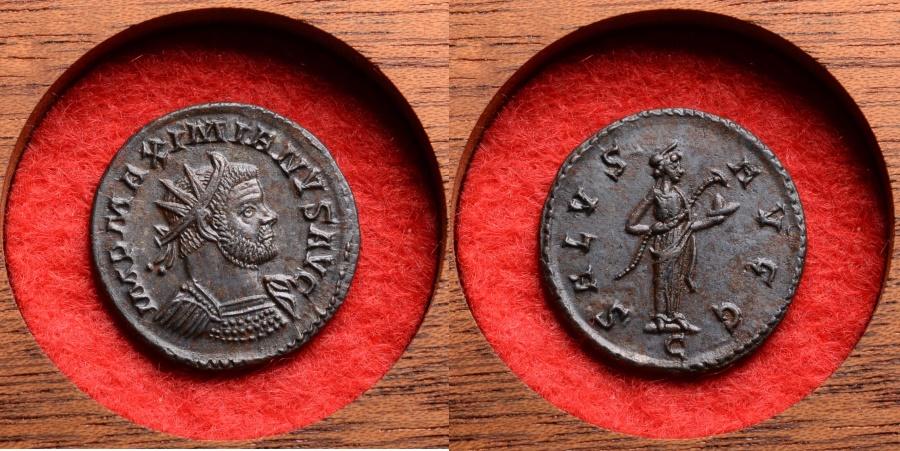 Ancient Coins - Superb Ancient Roman Bronze Antoninianus Coin of Emperor Maximianus - 305 AD