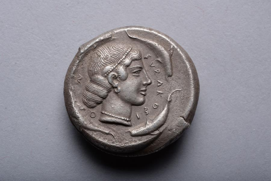 Ancient Coins - Silver Tetradrachm from Syracuse - 450 BC