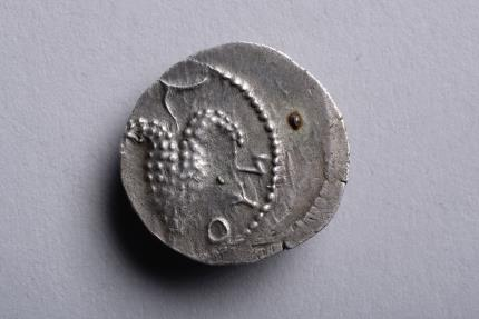 Ancient Coins - Silver Zuz from the Bar Kochba Revolt - 134 AD - Ex PEUSS 1981.