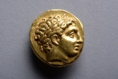 Ancient Greek Gold Stater Coin of King Philip II of Macedon - 323 BC