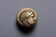 Ancient Coins - Ancient Greek Electrum Hekte Coin from Mytilene Lesbos - 377 BC