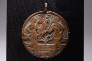 World Coins - Medieval Bronze Heraldic Horse Pendant / Livery Badge - 1380 AD