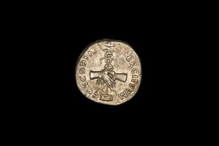 Ancient Coins - Ancient Roman Silver Denarius Coin of Emperor Nerva - 97 AD
