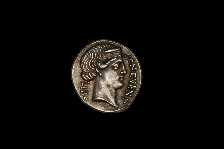 Ancient Coins - Ancient Roman Republic Silver Denarius Coin of Lucius Scribonius Libo - 62 BC