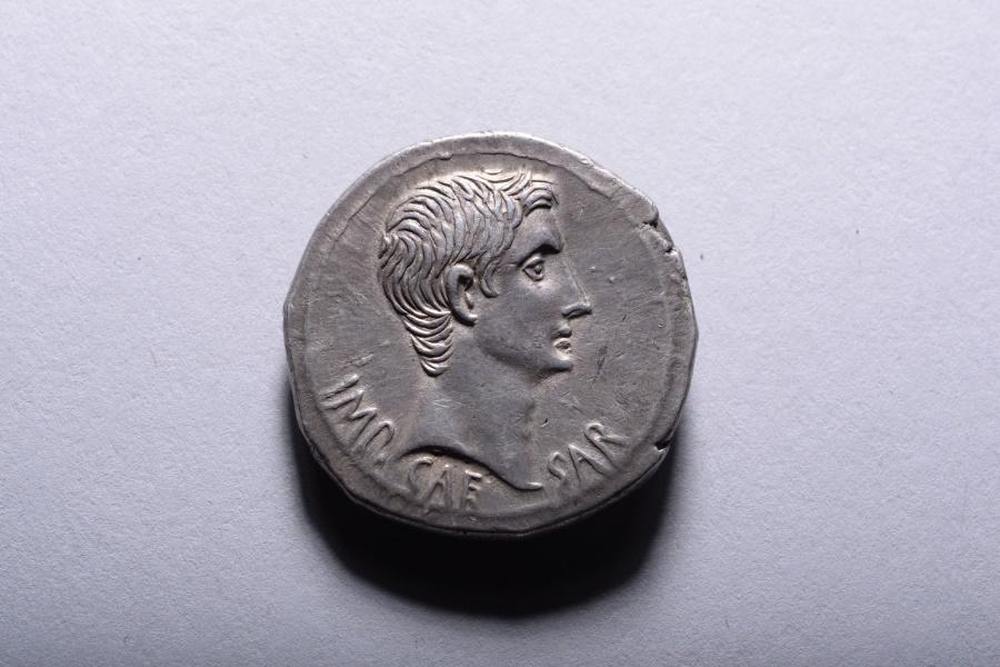 Ancient Coins - Ancient Roman Silver Cistophoric Tetradrachm Coin of Emperor Augustus - 25 BC