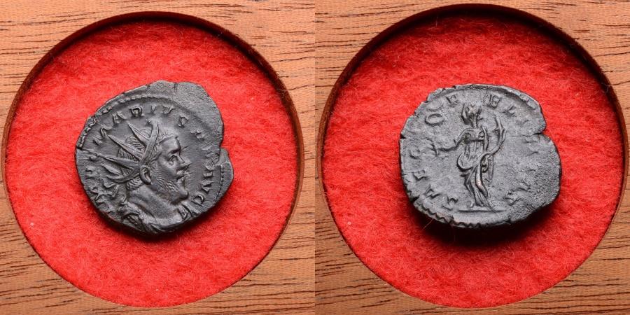 Ancient Coins - Scarce Ancient Roman Antoninianus Coin of Emperor Marius - 269 AD