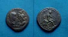 Ancient Coins - Gordian III and Serapis, AE of Markianopolis, Moesia /, Apollo
