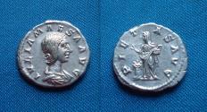 Ancient Coins - JULIA MAESA Denarius.
