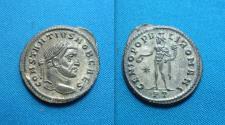 Ancient Coins - Constantius I. As Caesar, Silvered Follis Ticinum