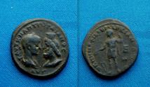 Ancient Coins - Gordian III and Serapis AE 27 of Markianopolis, Moesia Inferior.