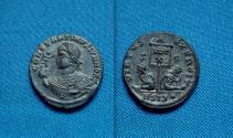Ancient Coins - Constantine II AE Follis. Siscia. RARE-R4