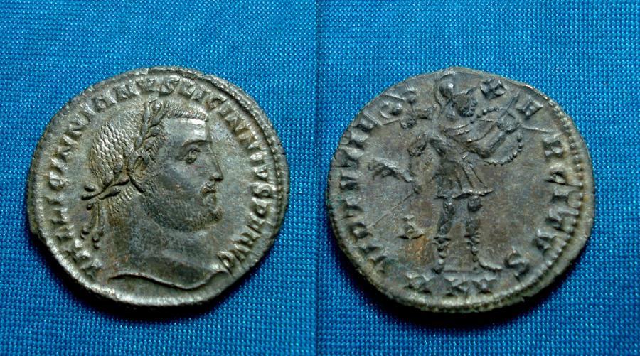 Ancient Coins - Licinius I AE Follis Silvered , Cyzicus