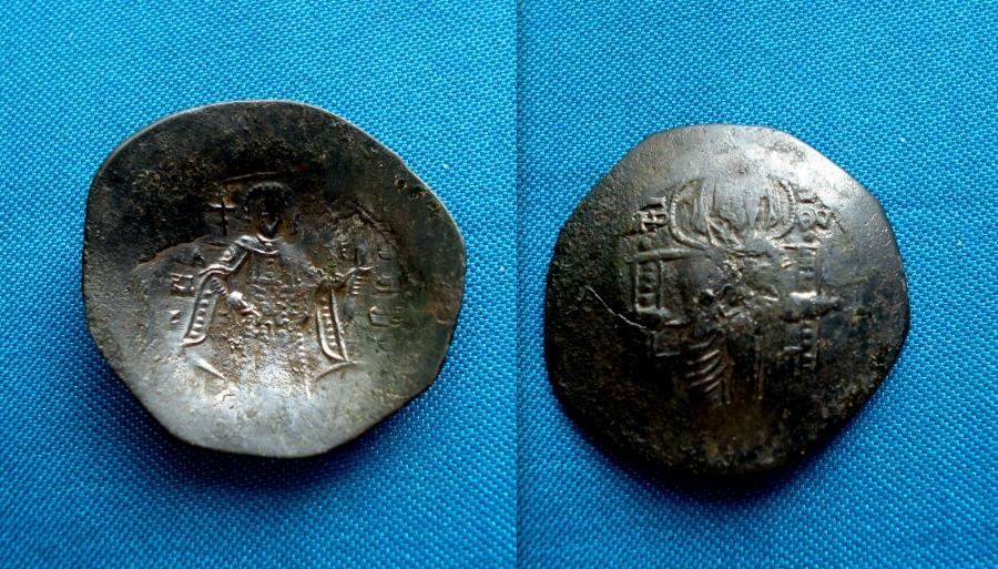 Ancient Coins - Isaac II Angelus, trachy, Constantinople, 28mm