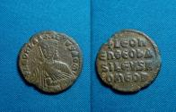 Ancient Coins - Byzantine Empire, Leo VI AE Follis