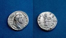Ancient Coins - Antoninus Pius Denarius / Minerva