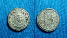Ancient Coins - Probus sivered AE Antoninianus. Antioch mint. / Emperor and Jupiter